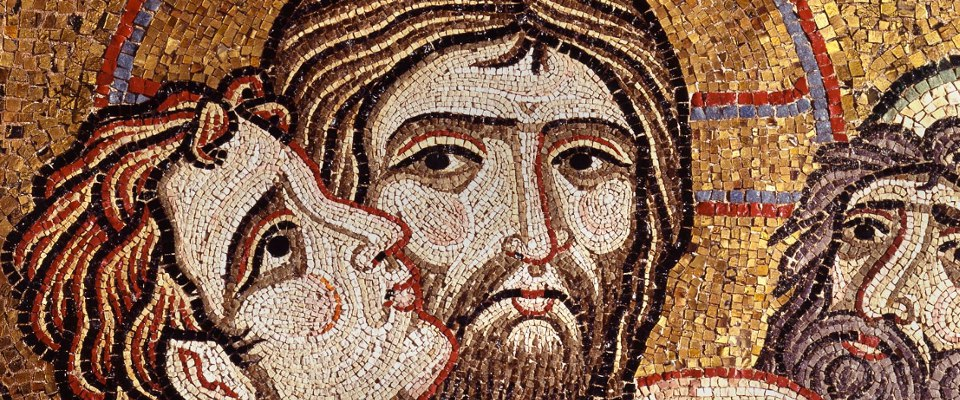 Предательство Иуды. Фрагмент мозаики Собора Святого Марка (Италия, Венеция) XII в.