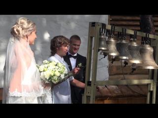 звон колокола после венчания футаж