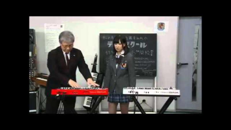 佐藤すみれがRoland GAIA SH-01で「心の瞳」と「テクノポリス」を演奏