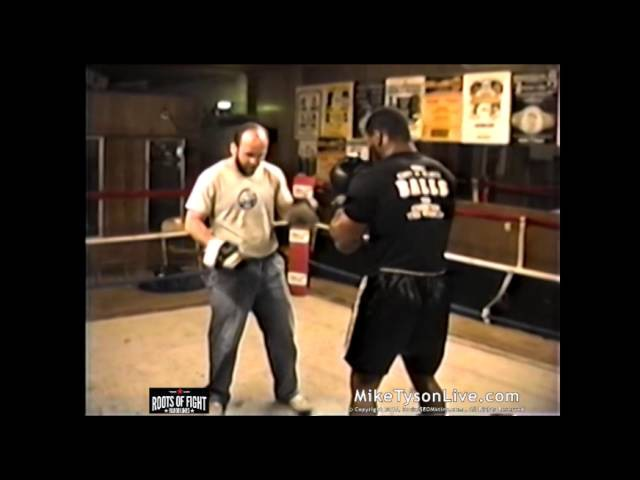 Iron Mike Tyson BOOM Trains on the Pads