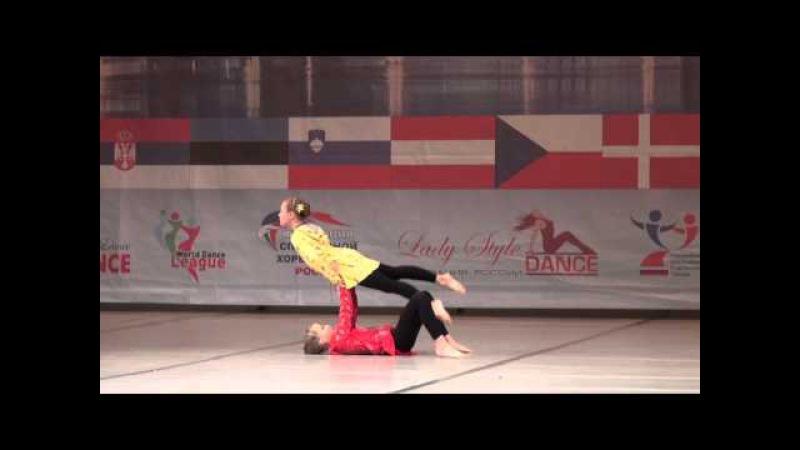 00158 БТО 2015. European Championship. Акробатический танец, юниоры, дуэты, финал