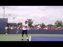 Подача в теннисе Замедленная съемка подачи Роджера Федерера