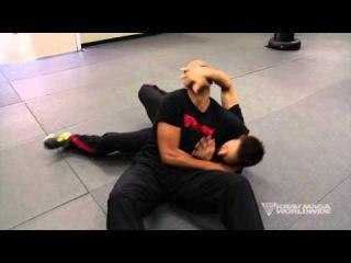 Krav Maga Training w/ AJ Draven of KMW - Headlock Defense on the Ground - Ep. 34