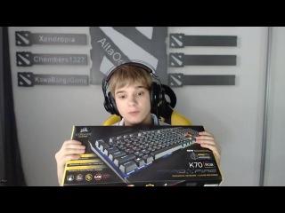 Распаковка клавиатуры Corsair k70