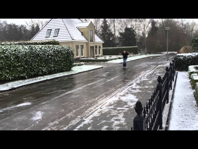 Schaatsen op straat Januari 2016