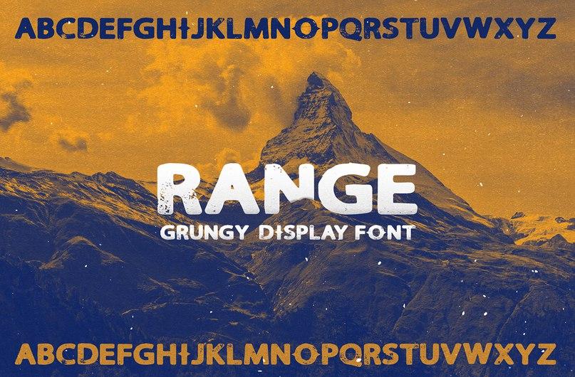 Range шрифт скачать бесплатно
