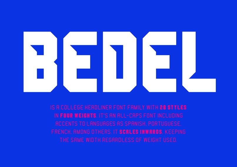 Bedel шрифт скачать бесплатно