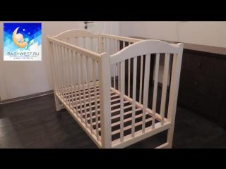 Обзор детской кроватки колесо-качалка Кубаночка 2 БИ 38.0