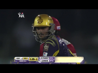 Manish Pandey stood still to finish the game in style (IPL2014_ KXIP vs KKR - 34th Match)
