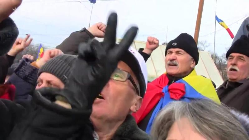 Kişinýowda protestler geçirildi