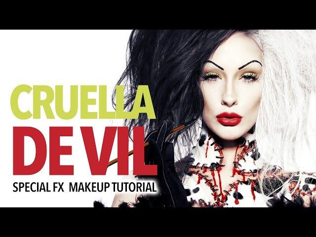Disney horror: Cruella De Vil Special FX makeup tutorial