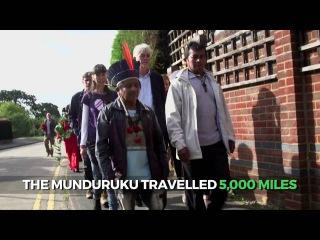 Munduruku leaders meet Siemens bosses in Surrey