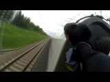 Зацепинг на  Сапсане МСК-Бологое | High-speed trainsurfing 230 km/h in Russia