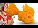 Art in pumpkin arte em abóbora Peixe em abóbora Fish in pumpkin tallado en frutas