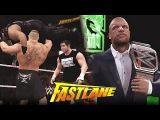 WWE 2K16 Fast Lane 2016 : Roman Reigns vs Lesnar vs Ambrose & Triple H Confrontation