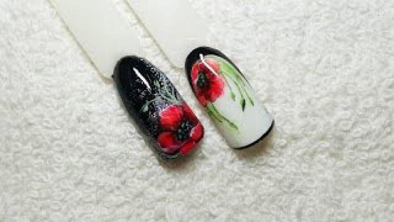 Дизайн ногтей. Маки