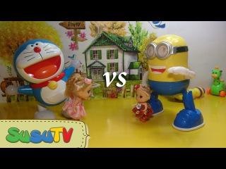 Đồ Chơi Trẻ Em Cho Bé Mẫu Giáo - Trò Chơi Minion Toys Thi Nhảy Dancing Cùng Robot Doraemon   SusuTV