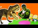 The HULK vs Minions! Funny videos for kids! Супергерой Халк vs миньоны приколы видео