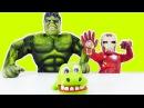 Superheroes The HULK vs The IRON MAN! Funny videos for kids! Халк и Железный человек приколы видео