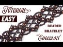 Tutorial Retro beaded bracelet CHOCOLATE / Ретро браслет из бисера своими руками