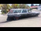 Ethyls last show. 65 Cadillac hearse burnout