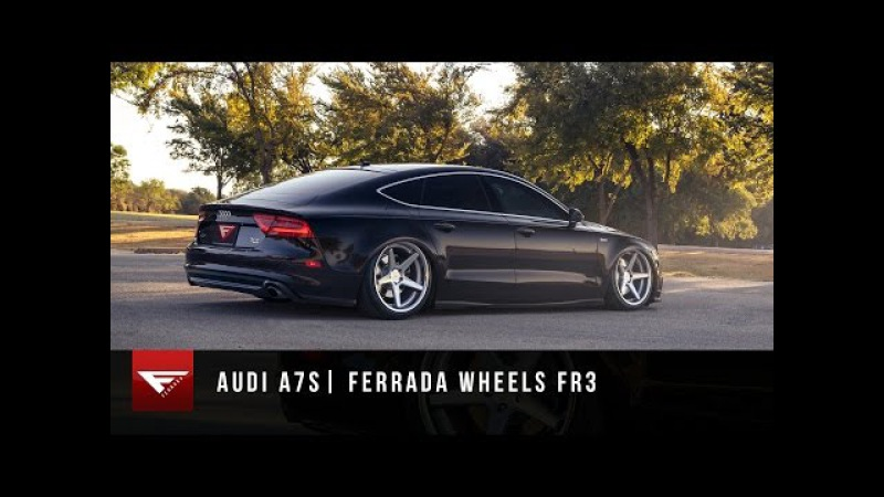 2014 Audi A7 Ferrada Wheels FR3 in Machine Silver Bagged Audi A7 Air Ride