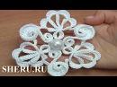 Вязание крючком цветка с различными лепестками. Урок 132