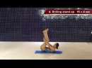 Swimming dryland exercise / swimming workout