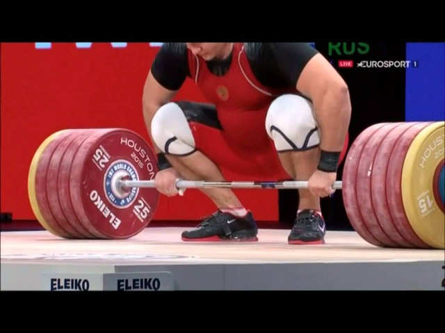 Aleksey Lovchev 264 kg World Record Clean and Jerk 2015 World Championships
