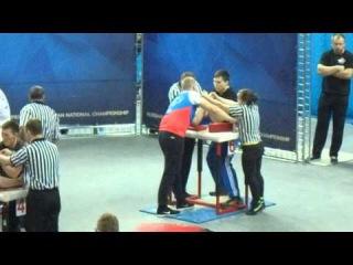 Чемпионат России по армрестлингу 2016 Качан Полупанов 110 кг левая