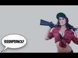 SSSniperWolf, sexxy cosplay, эротический косплей, выебал на улице, сиськи в прямом эфире