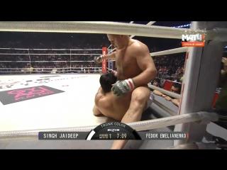 Федор Емельяненко победил Джайдипа Сингха, бой 31 декабря 2015. Fedor Emelianenko vs Jaideep Singh.
