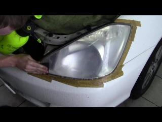 Toyota Alion полировка фар