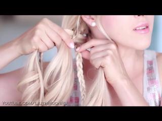 Коса из 5 прядей в школу и на работу, на каждый день своими руками ★ Прическа на длинные волосы