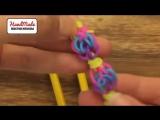 Плетение  необычного БРАСЛЕТА из резиночек Rainbow Loom Bands
