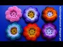 Flor tejida a crochet o ganchillo N° 1para adornar gorros, tapetes y cuadrados de colchas