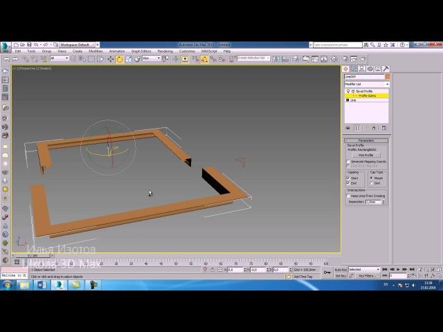 Уроки 3Ds Max. Ошибки с Bevel Profile в 3D Max. Шпаргалки часть 23. Проект Ильи Изотова.