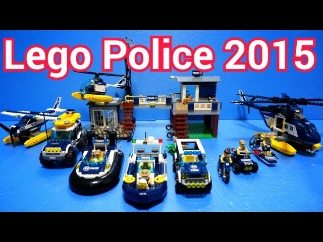 Lego Police Car Toys 2015 : 60065 - 60071 (All) Time Lapse Stopmotion Build