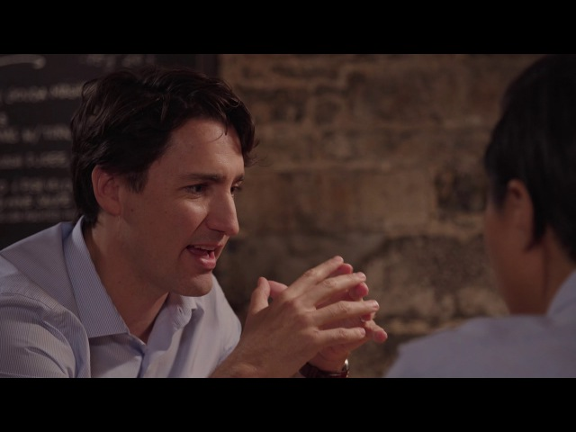 Food, culture travel: Justin Trudeau shares a meal with Kristen Kish, American Top Chef