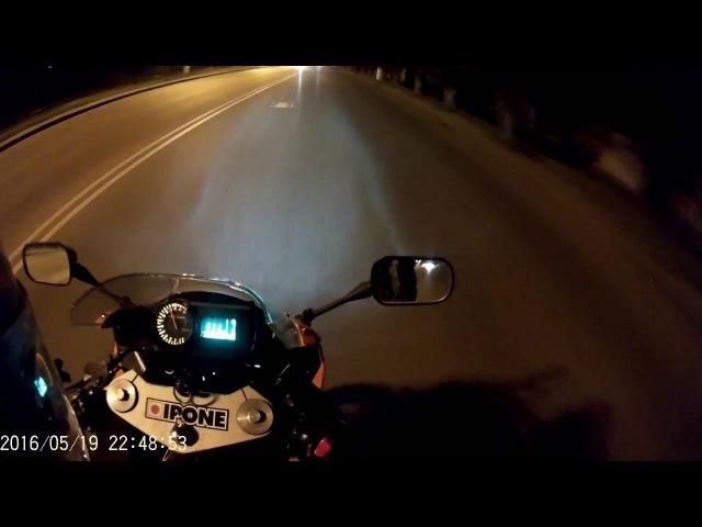 SJCAM5000 night test ride on motorbike