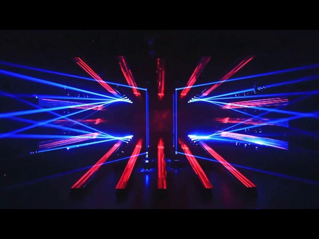 China first naked eye 3D lighting art show