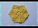 Crochet motif Crochet doily Вязание мотива крючком Маленькая салфеточка
