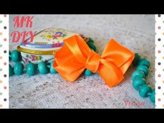 Необычный бант из атласных лент 2,5 см /Мастер-класс / Bow of satin ribbons 2.5 cm