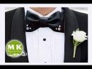 Мастер класс Канзаши Галстук бабочка из атласной ленты Bow tie satin ribbons