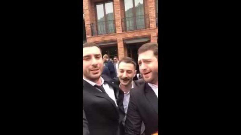 Georgians sing at the wedding - Грузины поют на свадьбе - ქართველები მღერიან ქორწილში