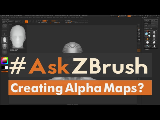 """AskZBrush: """"How can I create Alphas inside of ZBrush?"""""""