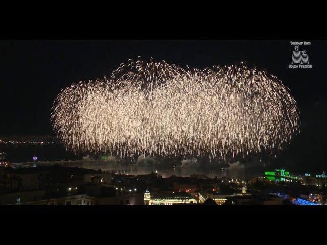 Суперфейерверк от «Большого праздника» на Гран-при «Формулы-1»,19.06.2016 (F1 Grand Prix, Baku) HD
