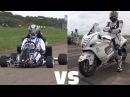 Suzuki GSX 1300R Hayabusa vs 230HP Kart CBR1000RR Fireblade
