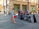 Варя Гайгалова и ксилофонное трио. Удивительные встречи с замечательными людьми на улицах города Хельсинки. Август 2015.