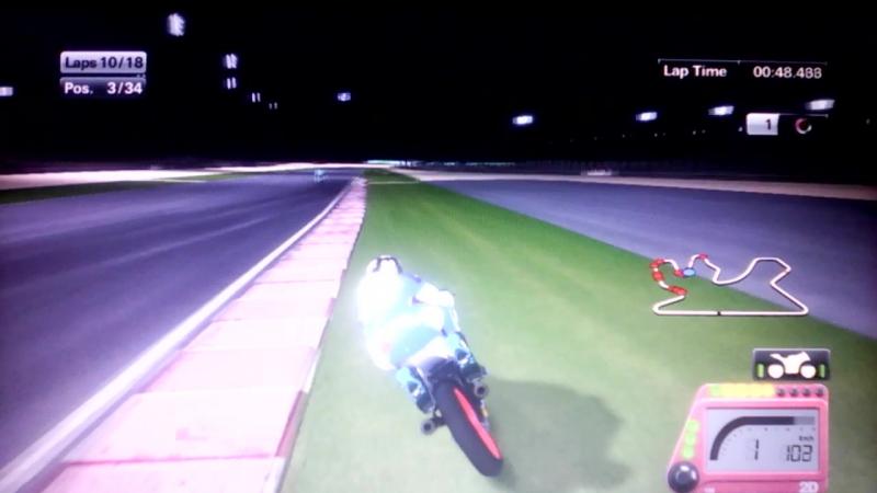 Мото GP 15 1-ый этап 3-его сезона чемпионата мира в классе мото 3 гран-при Катара на трассе Лосаил гонка